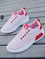 Недорогие -Жен. Обувь Полотно Весна Удобная обувь Кеды На плоской подошве Белый / Черный / Розовый