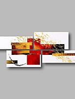 preiswerte -Hang-Ölgemälde Handgemalte - Abstrakt / Landschaft Zeitgenössisch Segeltuch