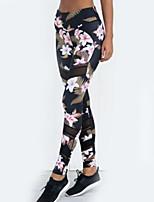 abordables -Mujer Diario Deportivo Legging - Floral Alta cintura