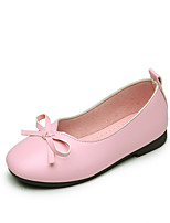 cheap -Girls' Shoes Faux Leather Spring / Fall Comfort / Flower Girl Shoes Flats Bowknot for Kids Gray / Yellow / Pink / Wedding / Party & Evening