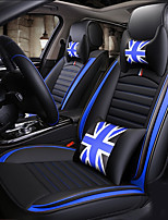 cheap -ODEER Car Seat Cushions Seat Covers Black / Blue Artificial Leather Common for universal All years All Models