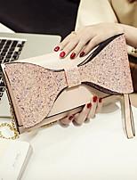 cheap -Women's Bags PU(Polyurethane) Wristlet Sequin / Bow(s) Black / Blushing Pink / Gray
