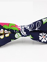 cheap -Men's Party / Basic Cotton / Polyester Bow Tie - Floral / Color Block / Patchwork Bow / All Seasons