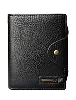 cheap -Men's Bags PU(Polyurethane) Wallet Rivet / Zipper Black / Coffee