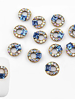 cheap -10 pcs Nail Jewelry Fashionable Design nail art Manicure Pedicure Diamond / Rhinestone Decorated Case