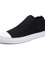 cheap -Men's Canvas / Elastic Fabric Spring / Summer Comfort Sneakers White / Black