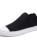 Недорогие -Муж. Полотно / Эластичная ткань Весна / Лето Удобная обувь Кеды Белый / Черный