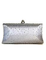 cheap -Women's Bags Satin Evening Bag Crystals Silver