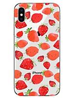 economico -Custodia Per Apple iPhone X / iPhone 8 Transparente / Fantasia / disegno Per retro Frutta Morbido TPU per iPhone X / iPhone 8 Plus / iPhone 8