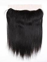 Недорогие -Yavida Бразильские волосы 4X13 Закрытие Прямой Бесплатный Часть Швейцарское кружево Натуральные волосы Жен. / Все Классический / Шерсть / Натуральный