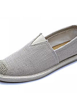 cheap -Men's Shoes Linen Summer Comfort Loafers & Slip-Ons Black / Beige / Blue