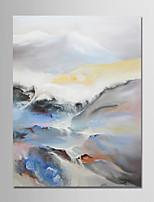 economico -Hang-Dipinto ad olio Dipinta a mano - Astratto / Paesaggi Modern Tela