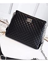 cheap -Women's Bags PU(Polyurethane) Shoulder Bag Zipper White / Black / Silver