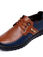 Недорогие -Муж. Лакированная кожа Весна Удобная обувь Туфли на шнуровке Черный / Желтый / Коричневый / Для вечеринки / ужина