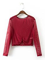abordables -Mujer Básico Blusa Un Color