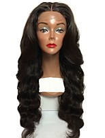 cheap -Virgin Human Hair Lace Front Wig Wig Brazilian Hair Wavy Middle Part 150% Density With Baby Hair / Natural Hairline / For Black Women Black Women's Short / Long / Mid Length Human Hair Lace Wig