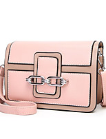 cheap -Women's Bags PU(Polyurethane) Shoulder Bag Zipper Orange / Red / Blushing Pink