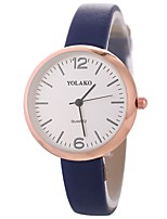 baratos -Xu™ Mulheres Relógio de Pulso Chinês Criativo / Relógio Casual / Mostrador Grande PU Banda Fashion / Minimalista Preta / Branco / Azul