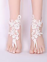 abordables -Sandales Pieds Nus - Dentelle Fleur Classique, Mode Blanc Pour Mariage / Bikini / Femme