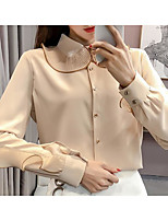 cheap -Women's Basic Blouse - Color Block