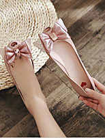 cheap -Women's Shoes PVC(Polyvinyl chloride) Summer Comfort Flats Flat Heel Round Toe Bowknot Black / Red / Pink