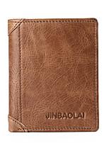 cheap -Men's Bags Nappa Leather Wallet Zipper Coffee / Brown