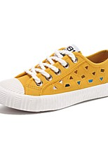 cheap -Women's Shoes Canvas Summer Comfort Sneakers Flat Heel Closed Toe Yellow / Green