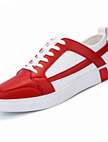 cheap -Men's Light Soles PU(Polyurethane) Fall Sneakers Walking Shoes Black / White / Black / Red