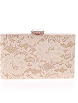 cheap -Women's Bags Polyester Evening Bag Crystals / Lace Black / Beige / Almond