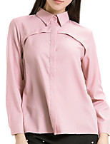 cheap -women's shirt - solid colored shirt collar