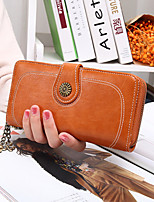 cheap -Women's Bags PU Leather Wallet Rivet / Zipper Yellow / Brown / Wine