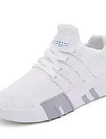 cheap -Men's Knit / Elastic Fabric Summer Comfort Sneakers White / Black / Gray