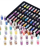 abordables -48 pcs Bijoux à ongles / Nail Glitter / Kits et ensembles d'art d'ongle Décoratif / Haute qualité Outil d'art des ongles / Nail Art