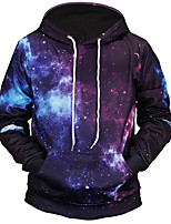 cheap -Men's Plus Size Basic Long Sleeve Hoodie - Geometric Hooded