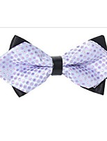 cheap -Men's Party / Basic Cotton / Polyester Bow Tie - Polka Dot / Color Block Criss-Cross / All Seasons