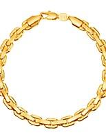 abordables -Homme Chaîne unique Chaînes & Bracelets - Mode Bracelet Or / Noir / Argent Pour Cadeau / Quotidien