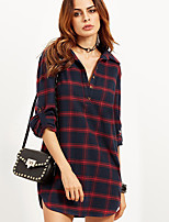 cheap -Women's Vintage Shirt - Solid Colored Black & Red, Tassel