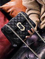 cheap -Women's Bags PU(Polyurethane) Shoulder Bag Buttons Black / Dark Green / Wine