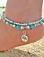cheap -Turquoise Anklet - Tree of Life Vintage, Bohemian, Fashion Turquoise For Going out / Bikini / Women's