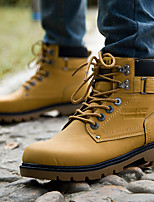 cheap -Men's Combat Boots PU(Polyurethane) Fall Boots Booties / Ankle Boots Black / Yellow / Brown