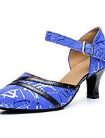 preiswerte -Damen Schuhe für modern Dance Wildleder Absätze Schlanke High Heel Tanzschuhe Blau