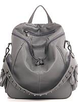 cheap -Women's Bags PU(Polyurethane) Backpack Rivet Black / Gray