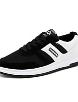 cheap -Men's Mesh / PU(Polyurethane) Summer Comfort Sneakers Black / Black / White / Black / Red