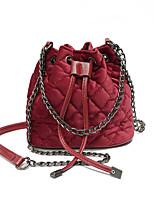 cheap -Women's Bags Velvet Shoulder Bag Buttons Black / Red / Gray