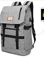 cheap -Unisex Bags Nylon Backpack Pattern / Print Black / Light Grey