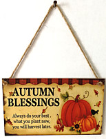Недорогие -Для вечеринки / ужина / День благодарения деревянный Свадебные украшения Семья Зима