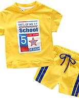 Недорогие -Дети (1-4 лет) Мальчики С принтом С короткими рукавами Набор одежды