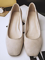 cheap -Women's Shoes Suede Spring Comfort / Basic Pump Heels Chunky Heel Black / Gray / Almond