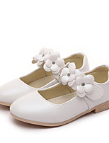 cheap -Girls' Shoes Faux Leather Spring / Fall Comfort / Flower Girl Shoes Flats Rhinestone / Flower / Hook & Loop for Kids Gold / White / Pink / Wedding / Party & Evening