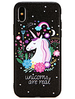 cheap -Case For Apple iPhone X / iPhone 8 Ultra-thin Back Cover Unicorn / Cartoon Soft TPU for iPhone X / iPhone 8 Plus / iPhone 8